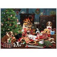 Cobble Hill Puzzles Cobble Hill Christmas Puppies Puzzle 500pcs