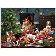 Cobble Hill Puzzles Cobble Hill Christmas Puppies Puzzle 500pcs