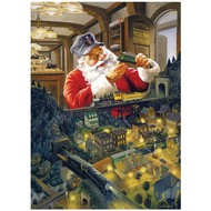 Cobble Hill Puzzles Cobble Hill Santa's Railway Puzzle 500pcs
