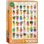 Eurographics Eurographics Cacti & Succulents Puzzle 1000pcs