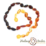 "Healing Amber Healing Amber 20"" Adult Necklace Oval"