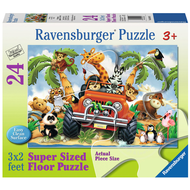 Ravensburger Ravensburger 4-Wheeling Floor Puzzle 24pcs