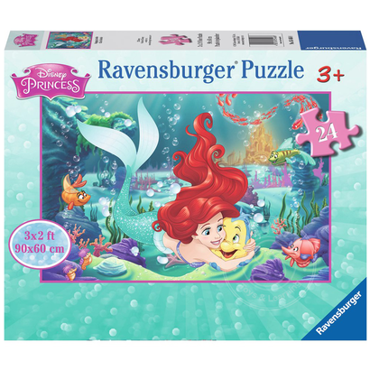 23fecf68b897 Ravensburger Disney Princess: Hugging Ariel Floor Puzzle 24pcs ...