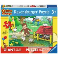 Ravensburger Ravensburger Curious George: Curious George Fun Floor Puzzle 24pcs