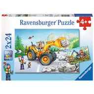 Ravensburger Ravensburger Diggers at Work Puzzle 2 x 24pcs