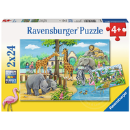 Ravensburger Ravensburger Welcome to the Zoo Puzzle 2 x 24pcs