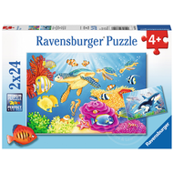 Ravensburger Ravensburger Vibrance Under the Sea Puzzle 2 x 24pcs