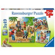 Ravensburger Ravensburger Adventure on the High Seas  Puzzle 3 x 49pcs