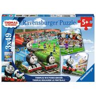 Ravensburger Ravensburger Thomas & Friends: Thomas Watches Soccer Puzzle 3 x 49pcs