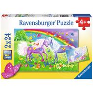 Ravensburger Ravensburger Rainbow Horses Puzzle 2 x 24pcs