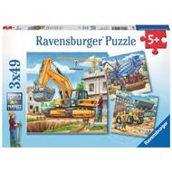 Ravensburger Ravensburger Large Construction Vehicles Puzzle 3 x 49pcs