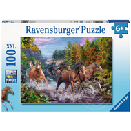 Ravensburger Ravensburger Rushing River Horses Puzzle 100pcs XXL
