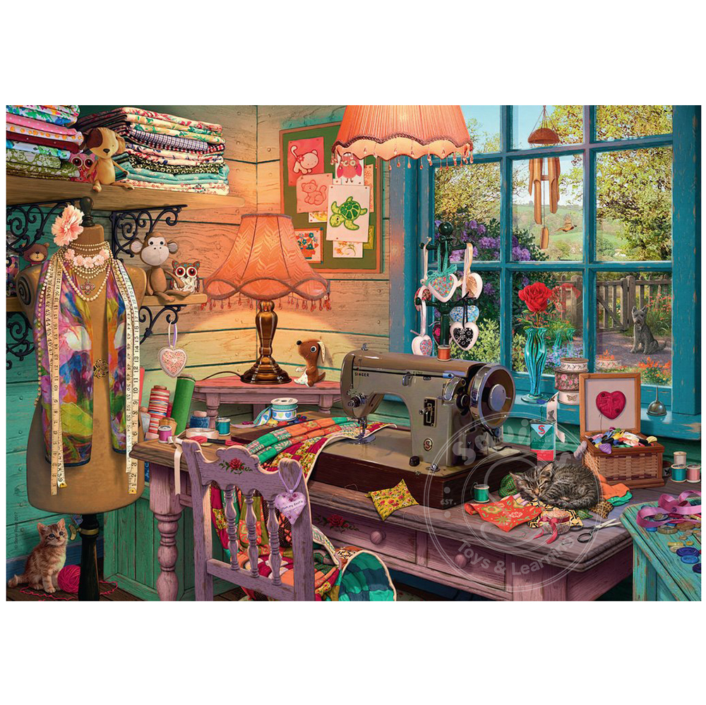 Ravensburger 1000pc Puzzle The Sewing Shed
