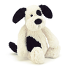Jellycat Jellycat Bashful Black & Cream Puppy, Medium