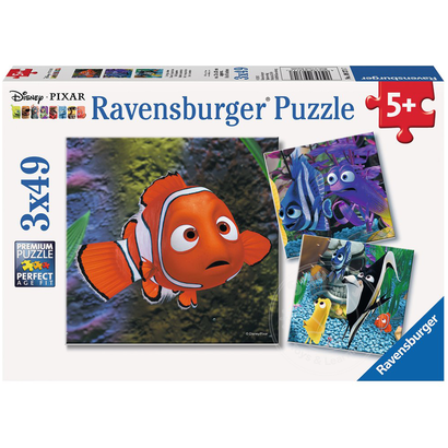 Ravensburger Ravensburger Finding Nemo In the Aquarium Puzzle 3 x 49pcs