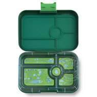 Yumbox YumBox Tapas 5 Compartment - Brooklyn Green w/ Bon Appetit Tray