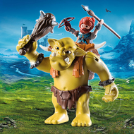 Playmobil Playmobil Giant Troll with Dwarf Fighter
