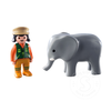 Playmobil Playmobil 123 Zookeeper with Elephant