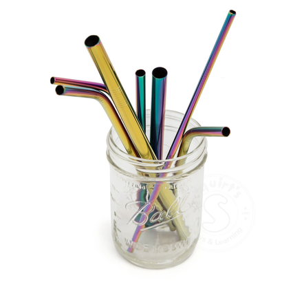 Life Without Waste Stainless Steel Straw, Rainbow Bent Medium