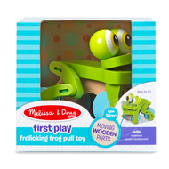 Melissa & Doug Melissa & Doug First Play Frolicking Frog Pull Toy