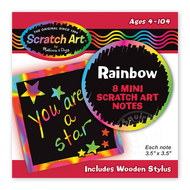 Melissa & Doug Melissa & Doug Scratch Art Mini Notes - Rainbow