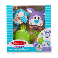 Melissa & Doug Melissa & Doug First Play Favorite Pets Grasping Toys