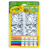 Crayola Color-In Socks Skateboarding Sloth
