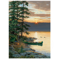Cobble Hill Puzzles Cobble Hill Canoe Lake Puzzle 500pcs