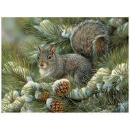 Cobble Hill Puzzles Cobble Hill Gray Squirrel Easy Handling Puzzle 275pcs