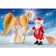 Playmobil Playmobil Santa and Christmas Angel Pack