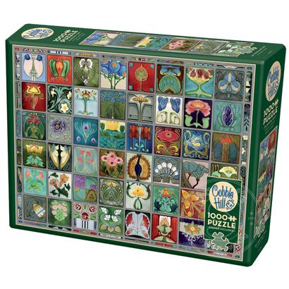 Cobble Hill Puzzles Cobble Hill Art Nouveau Tiles Puzzle 1000pcs