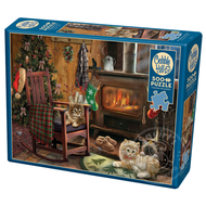 Cobble Hill Puzzles Cobble Hill Kittens by the Stove Puzzle 500pcs