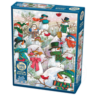 Cobble Hill Puzzles Cobble Hill Hill of a Lot of Snowmen Puzzle 500pcs
