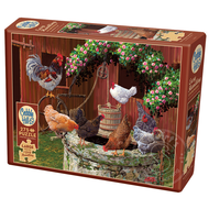 Cobble Hill Puzzles Cobble Hill The Chickens are Well Easy Handling Puzzle 275pcs