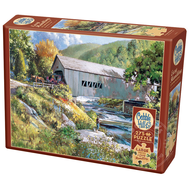 Cobble Hill Puzzles Cobble Hill Covered Bridge Easy Handling Puzzle 275pcs