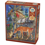 Cobble Hill Puzzles Cobble Hill Holiday Horsies Easy Handling Puzzle 275pcs