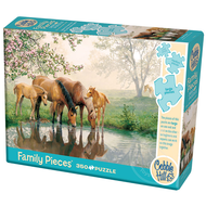 Cobble Hill Puzzles Cobble Hill Horse Family Family Puzzle 350pcs