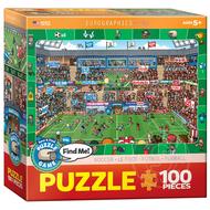 Eurographics Eurographics Spot & Find Soccer Puzzle 100pcs