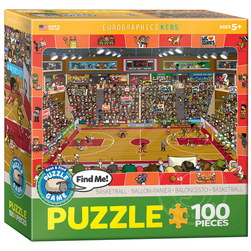 Eurographics Eurographics Spot & Find Basketball Puzzle 100pcs