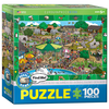 Eurographics Eurographics Spot & Find A Day at the Zoo Puzzle 100pcs
