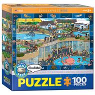 Eurographics Eurographics Spot & Find Crazy Aquarium Puzzle 100pcs
