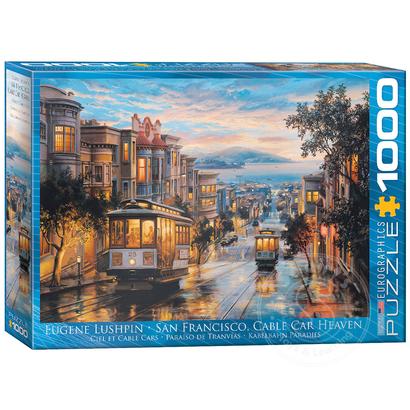 Eurographics Eurographics San Francisco, Cable Car Heaven Puzzle 1000pcs