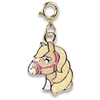 Charm It Charm It! Gold Glitter Horse Charm