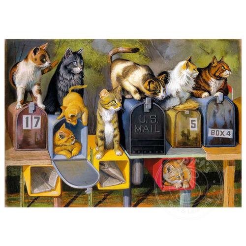 Ravensburger Ravensburger Cat's Got Mail Large Format Puzzle 300pcs