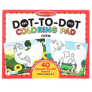 Melissa & Doug Melissa & Doug ABC XYZ Dot-to-Dot Coloring Pad - Farm