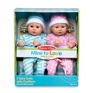 "Melissa & Doug Melissa & Doug Mine to Love Luke & Lucy 12"" Dolls"