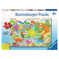 Ravensburger Ravensburger Time Travelling Dinos Puzzle 60pcs