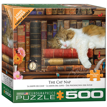 Eurographics Eurographics The Cat Nap Large Pieces Family Puzzle 500pcs