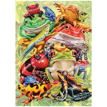 Cobble Hill Puzzles Cobble Hill Frog Pile Family Puzzle 350pcs