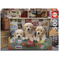 Educa Educa Puppies in the Luggage Puzzle 500pcs
